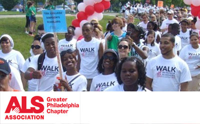 Wonderful people participating in an ALS Walk for a Cure