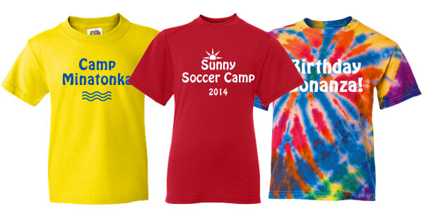 Matching T-Shirt Ideas for kids Summer activities