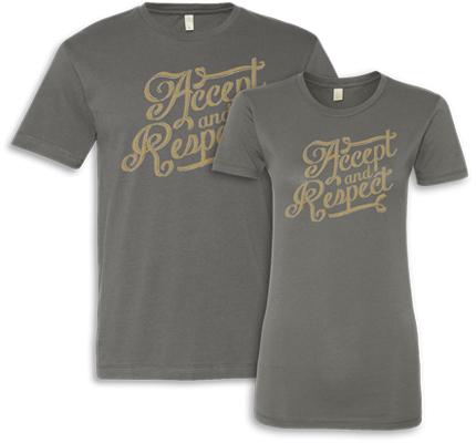Accept and Respect t-shirt to support anti-bullying for all students - gay or straight.