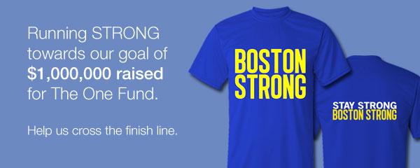 Boston Strong nears one million dollars in fundraising for the One Fund