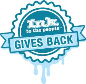 Ink to the People Gives Back Logo