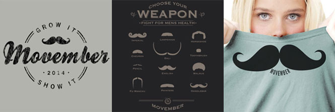 Support Mens Health Awareness with these Movember t-shirts