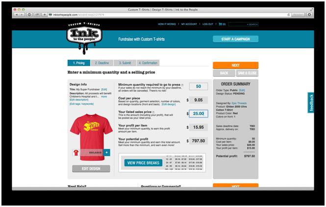Setting your t-shirt fundraiser goals