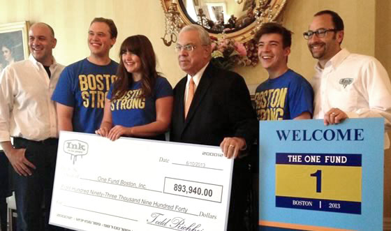 Boston Strong campaign check presentation